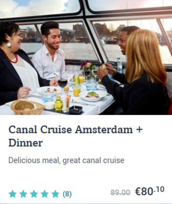 Canal Cruise Amsterdam + Dinner