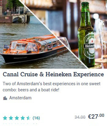 Amsterdam Canal Cruise and Heineken Experience