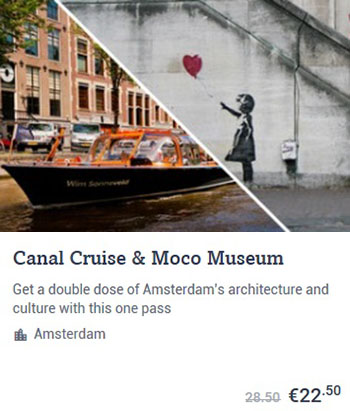 Canal Cruise & Moco Museum Amsterdam