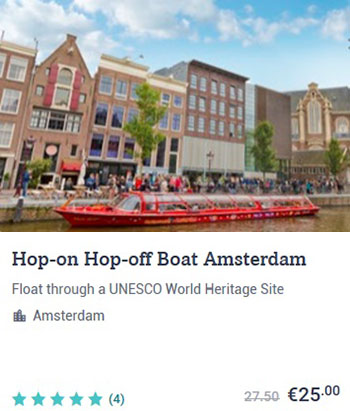 Hop on Hop off Boat Amsterdam