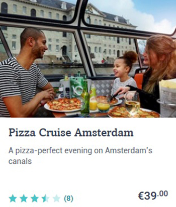 Pizza Canal Cruise Amsterdam