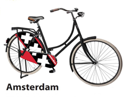 Amsterdam City Symbol on a bike