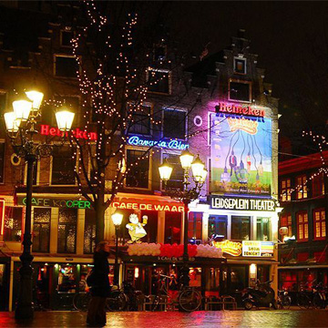 Nightlife on the Leidseplein in Amsterdam