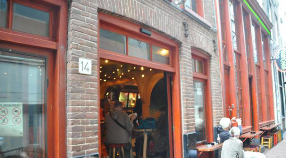 Coffeeshop Abraxas in Amsterdam, in the Netherlands