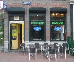 Coffeeshop Basjoe in Amsterdam in the netherlands