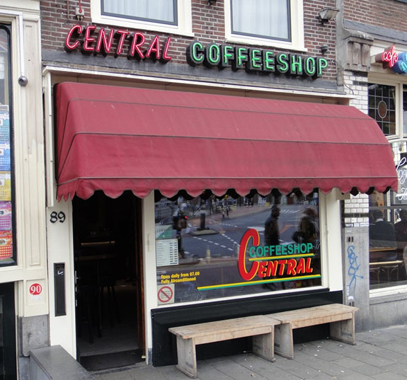 Coffeeshop Central in Amsterdam