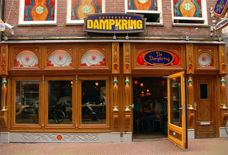 Coffeshop Dampkring in the Handboogstraat, Amsterdam