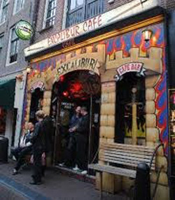 Coffeeshop Excalibur in Amsterdam. The Netherlands