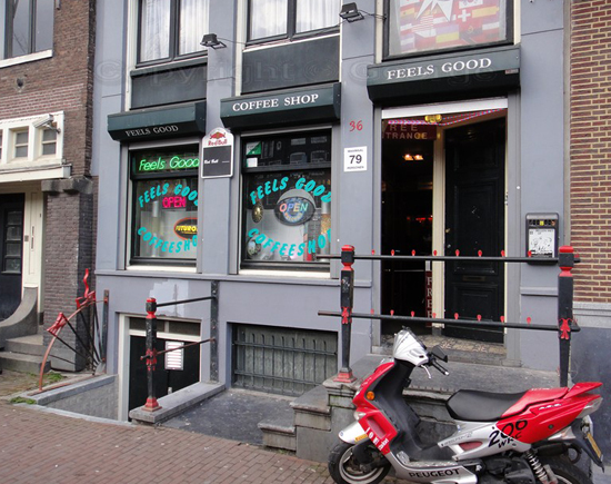 Coffeeshop Feels Good in Amsterdam, The Netherlands