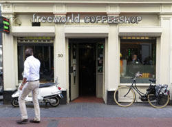 Coffeeshop Freeworld in Amsterdam in the Netherlands
