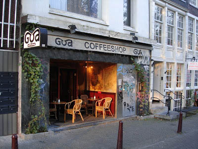 Coffeeshop Goa in Amsterdam in the netherlands