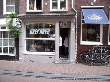 Coffeeshop Grey Area in Amsterdam in the Netherlands