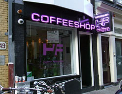 Coffeeshop Happy Feeling in Amsterdam, in the netherlands