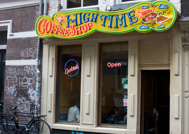 Coffeeshop High Time in Amsterdam in the Netherlands