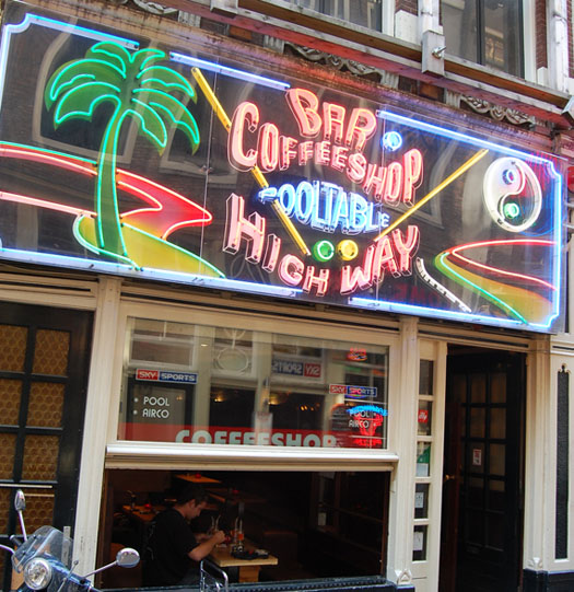 Coffeeshop Highway in Amsterdam