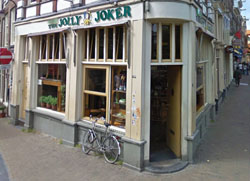 Coffeeshop The Jolly Joker in Amsterdam in the Netherlands