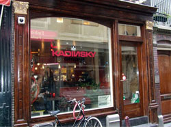 Coffeeshop Kadinsky in Amsterdam on the Brugsteeg 7a in the netherlands