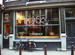 Coffeeshop Kadinsky in Amsterdam in the Netherlands