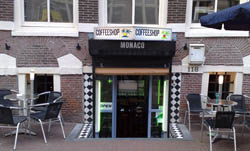 Coffeeshop Monaco in Amsterdam in the Netherlands