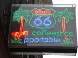Coffeeshop Route 66 in Amsterdam
