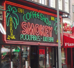 Coffeeshop Smokey in Amsterdam in the Netherlands