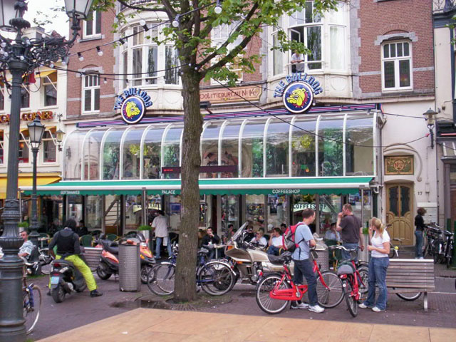 Coffeeshop The Bulldog on the Leidseplein in Amsterdam