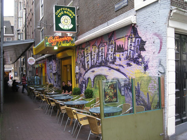 Coffeeshop The Saint in Amsterdam in the Netherlands