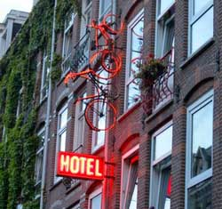 Bicycle Hotel in Amsterdam in the Netherlands