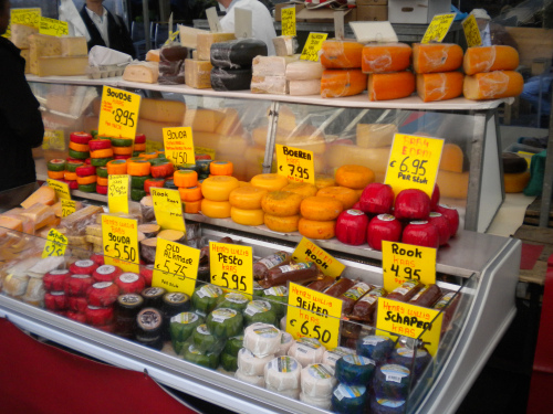 Albert Cuyp market cheese stall
