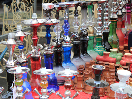 Albert Cuyp market water pipes stall
