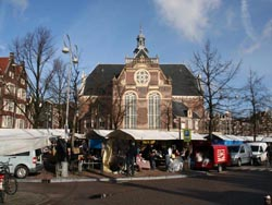 Noordermarkt on Saturday in Amsterdam