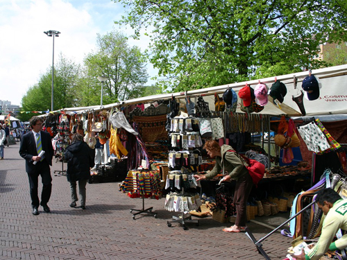 Waterlooplein market in Amsterdam