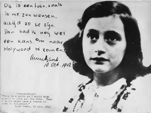 Anne Frank photo from 1942