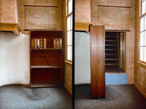 The secret passage in the Anne Frank House