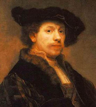 Self portrait from Rembrandt van Rijn