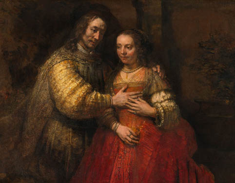 The Jewish Bride from Rembrandt van Rijn