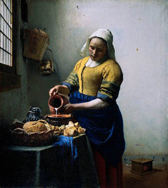 The Milk Maid from Johannes Vermeer
