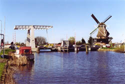 The Sloten Windmill in Amsterdam in the Netherlands