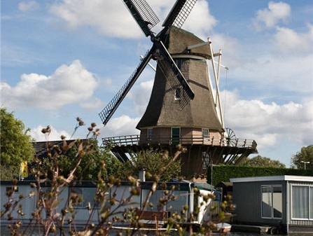 The Sloten Windmill in Amsterdam