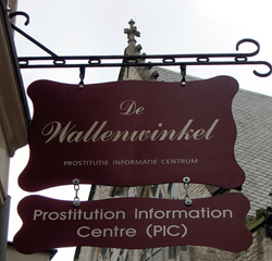 PIC Prostitution Information Center in the Red Light District
