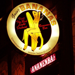 The Bananenbar in the Red Light District of Amsterdam