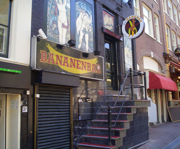 The Bananenbar in Amsterdam on the Red Light District