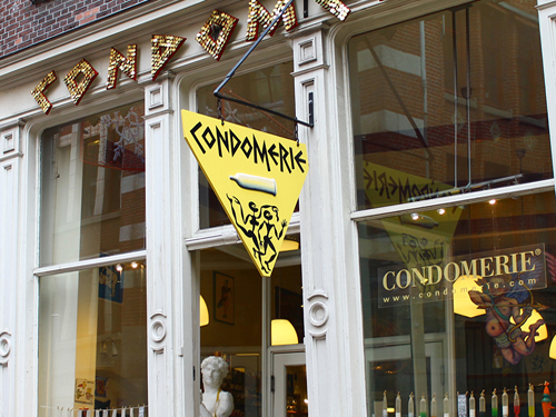 Condomerie in the Red Light District