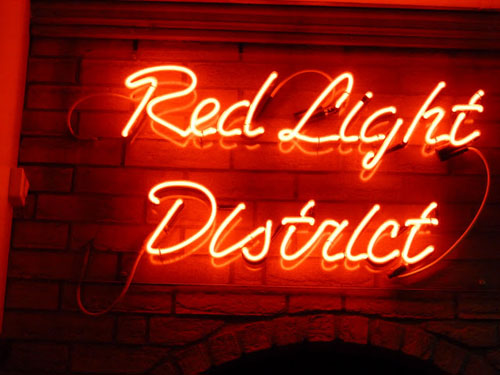 Neon sign Red Light District
