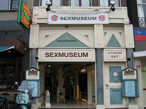 Sex Museum Amsterdam - street entrance