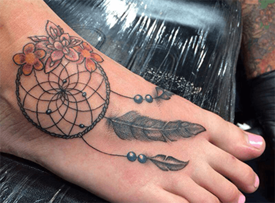 Tattoo on a foot