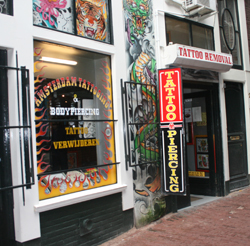 Tattoo shop Amsterdam Tattooing