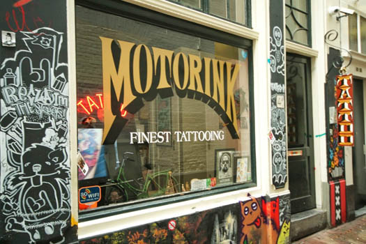 Tattoo shop Motorink Finest Tattooing in Amsterdam